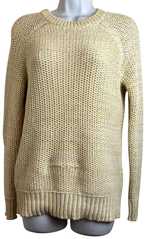 Vince Womens Cable Knit Size Xs Yellow Sweater Tradesy