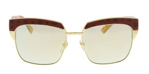 MCM MCM MCM102S 734 Gold Rectangle Visettos Sunglasses NEW!