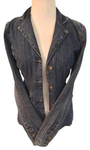 DKNY Denim Vintage Denim Fitted Blue denim Blazer