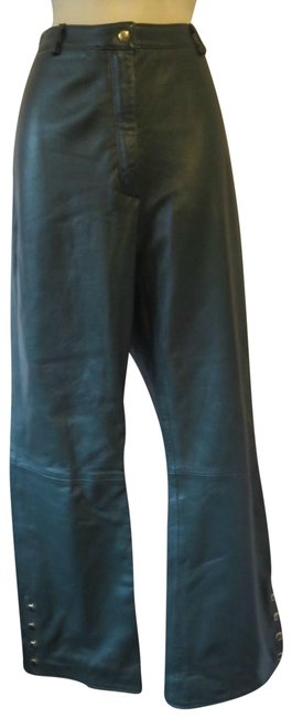 St. John Green Collection 8 Leather Dark Gold Snaps Pants Size 26 (Plus 3x) St. John Green Collection 8 Leather Dark Gold Snaps Pants Size 26 (Plus 3x) Image 1