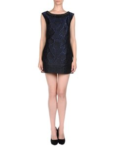 Alberta Ferretti Jacquard Embellished Mini Made In Italy Dress