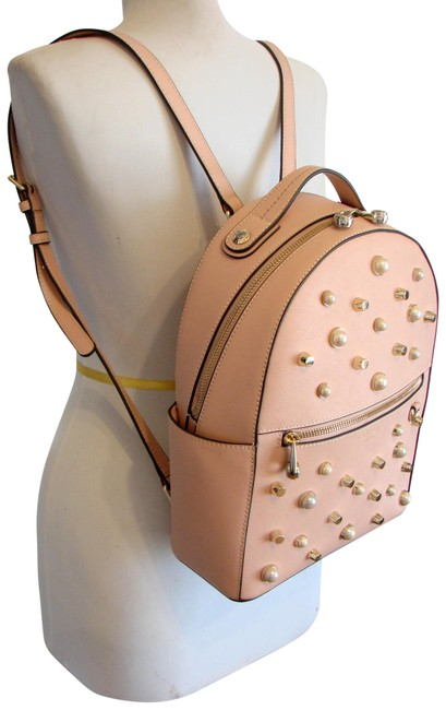 Item - West 57th with Pearls Mahogany Rose Saffiano Leather Backpack