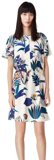 Tory Burch Ivory Anatolie Utopia Floral Botanical Short Casual Dress Size 6 (S) Tory Burch Ivory Anatolie Utopia Floral Botanical Short Casual Dress Size 6 (S) Image 1