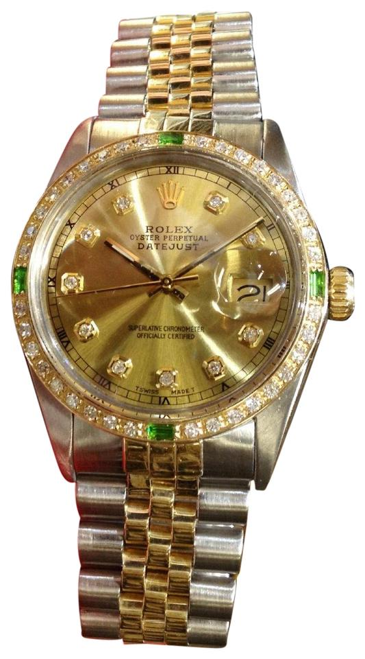 Rolex Mens Oyster Perpetual Datejust Diamonds Watch Tech Accessory 73 Off Retail