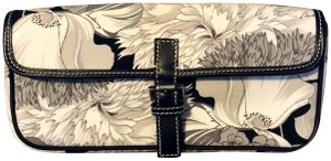 Burberry London Vintage One Of A Kind Floral Elegant New Black and White Clutch
