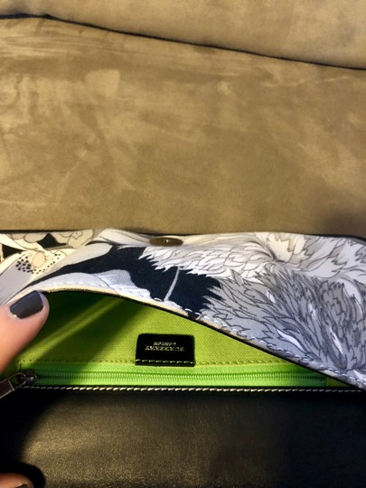 Burberry London Vintage One Of A Kind Floral Elegant New Black and White Clutch Image 1