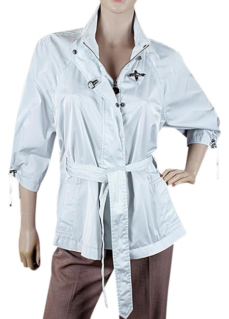 Item - Baby Blue Waterproof Cropped Sleeve Belted Jacket Size 6 (S)