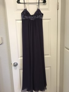 David's Bridal Plum Chiffon Formal Bridesmaid/Mob Dress Size 4 (S)
