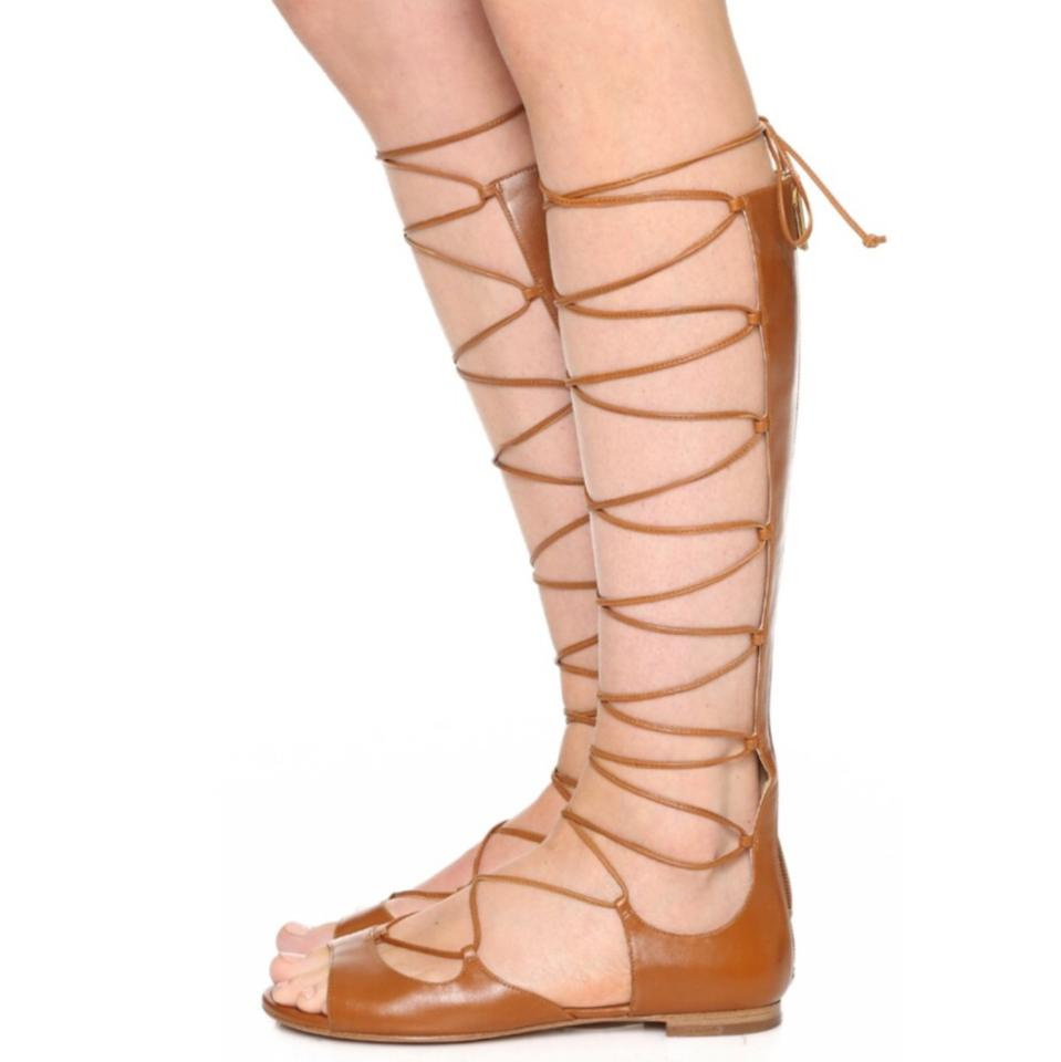 3f17e159017f Michael Kors Brown Birdie Tall Lace Up Gladiator Sandals Size US 7 ...