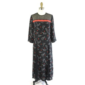 SUNO Designer Midi Lace Silk Dress