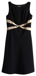 Ann Taylor Formal Classic Midi Sleeveless Color-blocking Dress