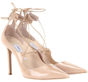 Jimmy Choo Leather Formal Nude Pumps
