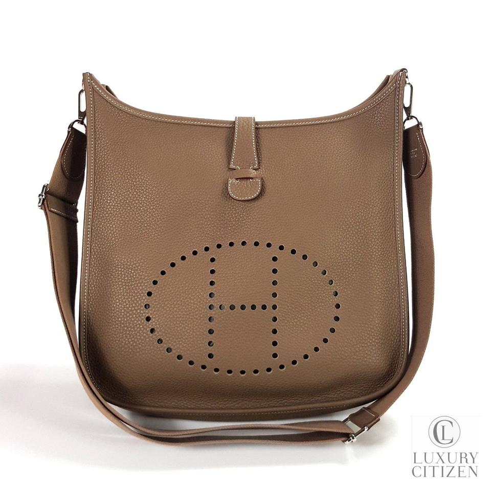 9ca5a3d7961a Hermès Evelyne Iii 33 Gm Large In Sold Out Clemence Etoupe Leather ...