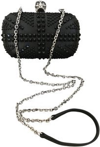 Alexander McQueen Leather Studded Skull Black Clutch
