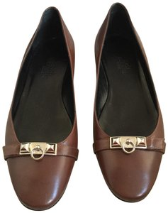 Hermès brown Flats