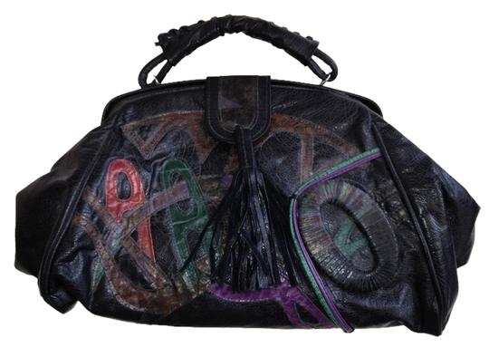 Other Satchel in Black with colored accents