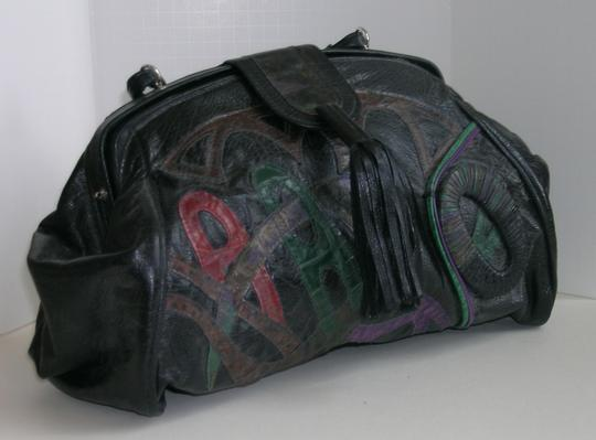 Other Satchel in Black with colored accents Image 1