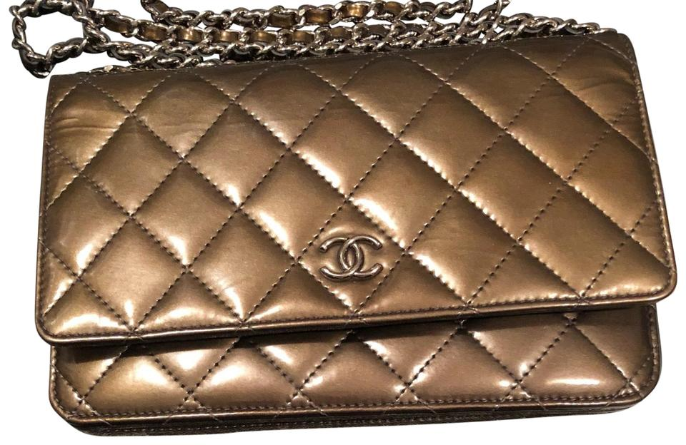 6ce2142e4b2a5c Chanel Woc Classic Timeless Flap Green Patent Leather Cross Body Bag ...