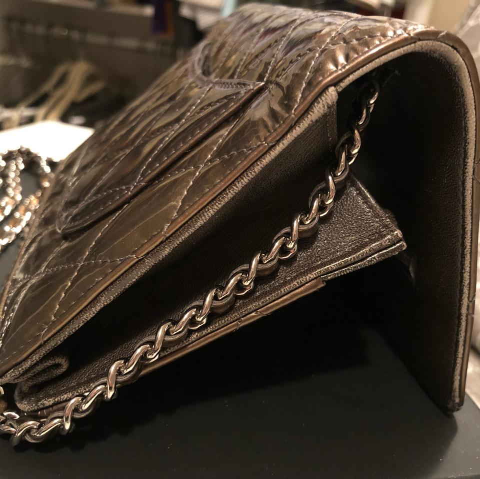 869913bafd4c7e Chanel Wallet on Chain Classic Timeless Flap Green Patent Leather ...