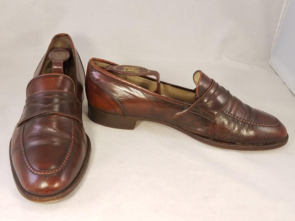 652103f2c88 Brown Man Vintage Penny Loafers Slip Ons Formal Shoes Size US 9.5 ...