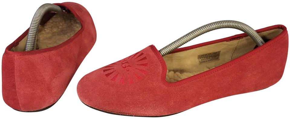 b166365ee4e UGG Australia Red Alloway Crimson Suede Slip On Slippers Loafers Flats Size  US 9 Regular (M, B)