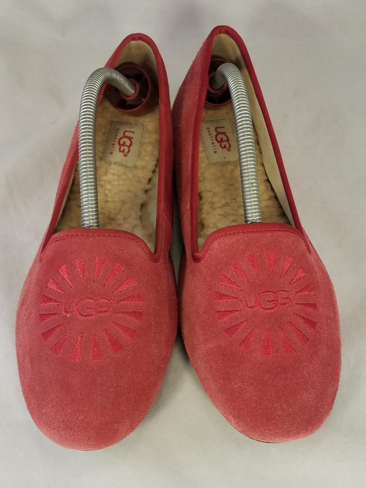 220146ea2f2 UGG Australia Red Alloway Crimson Suede Slip On Slippers Loafers Flats Size  US 9 Regular (M, B)