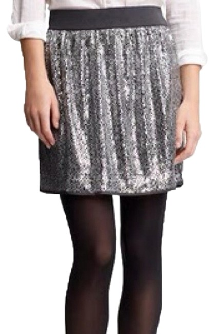 Gap Rock N' Roll Chic Mini Skirt Silver Sequin