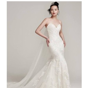 Sottero and Midgley Ivory Over Light Gold Ireland 6ss774 Traditional Wedding Dress Size 20 (Plus 1x)