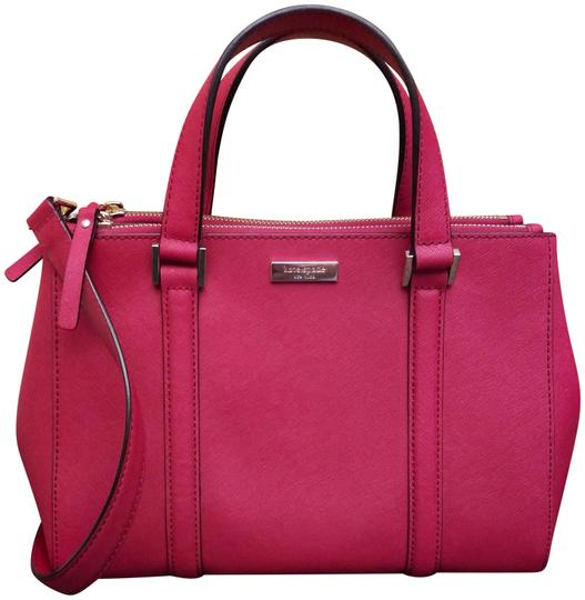 Preload https://item1.tradesy.com/images/kate-spade-small-loden-red-leather-satchel-2300340-0-3.jpg?width=440&height=440