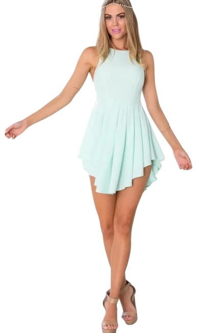 showpo Blue Skater Above Knee Night Out Dress Size 4 (S) showpo Blue Skater Above Knee Night Out Dress Size 4 (S) Image 1