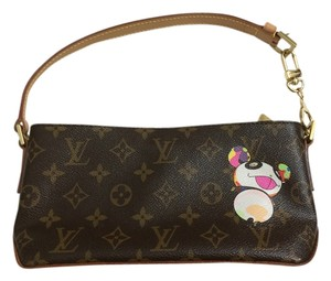 Louis Vuitton Piece Murikami Trotteur Panda Monogram Clutch