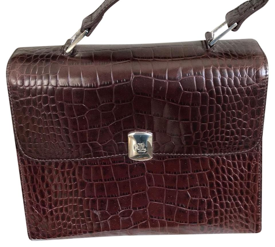 ebbfb9c741 Ralph Lauren Handbag Brown Leather Satchel - Tradesy
