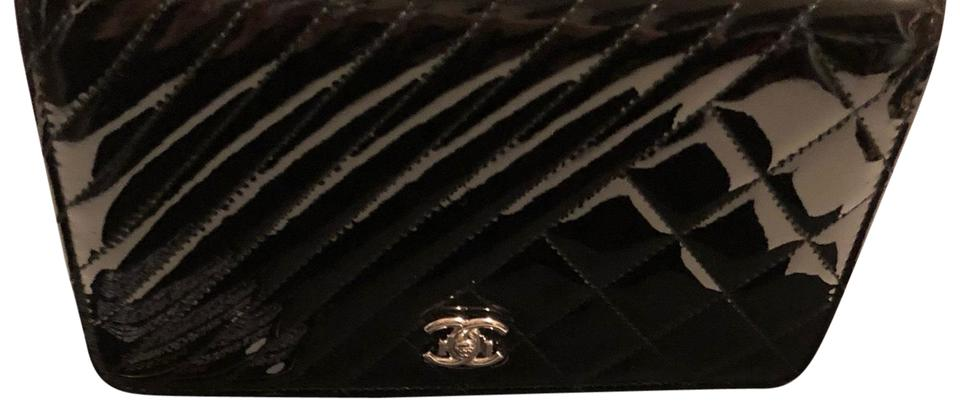 0cc43168282e Chanel Wallet on Chain Rare Woc – Chevron black with Silver Hardware Black  Patent Leather Cross Body Bag