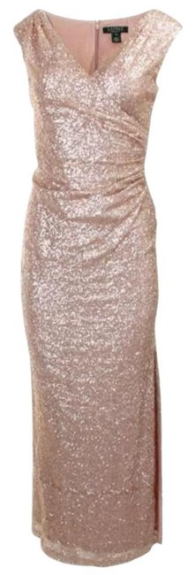 Item - Rose Gold Sequin Evening Gown Long Formal Dress Size 2 (XS)