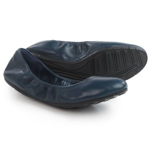 Cole Haan Ballet Leather blue Flats