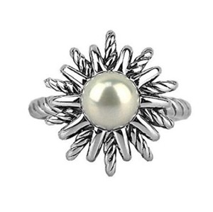 David Yurman Starburst Collection .925 Sterling Silver Pearl Ring
