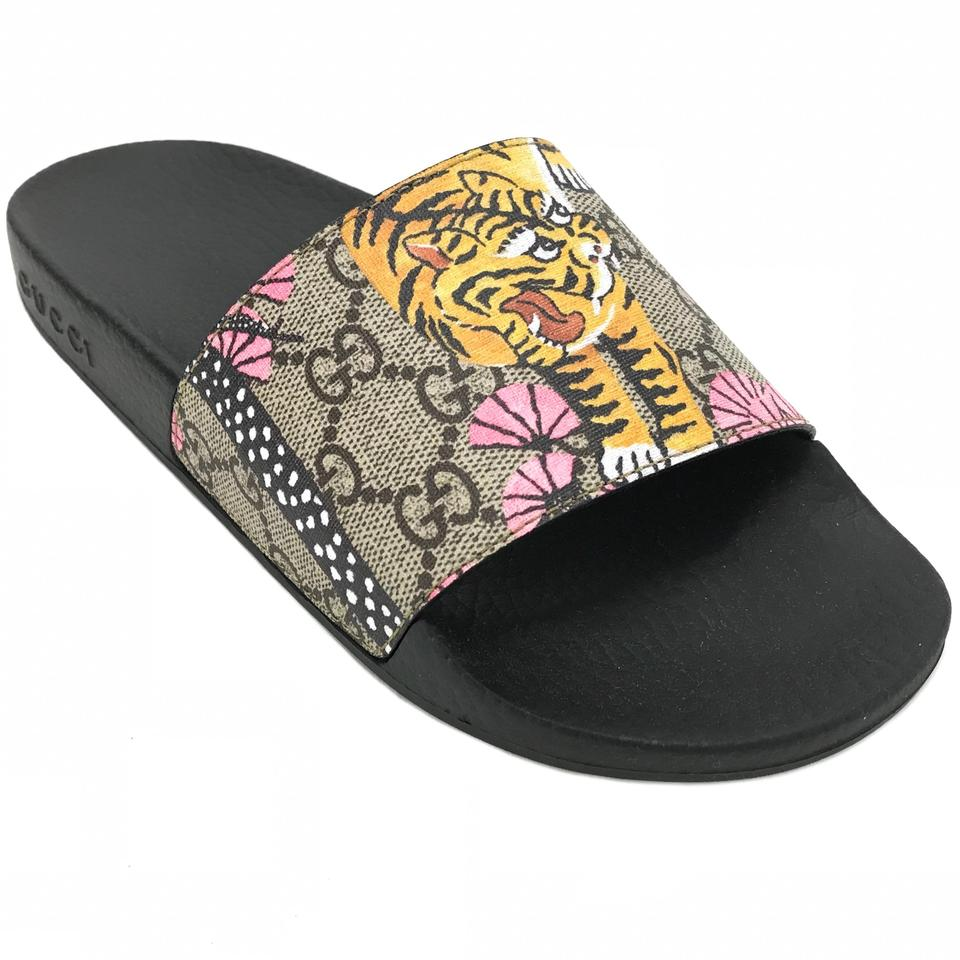 2412c2ef02f4 Gucci Multicolor 408508 Women s Gg Supreme Bengal Slide G37 Us7 ...