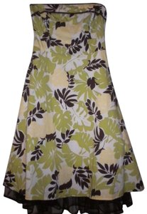 City Triangles Special Occasion Lined Strapless Floral Dress