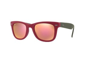 Ray-Ban Ray Ban Unisex Sunglasses RB4105 6050Z2 Red Frame Copper Flash Lens