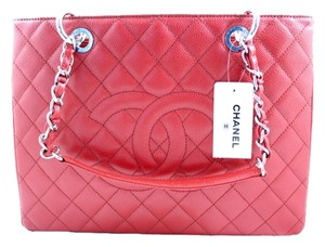 Chanel Gst Grand New 2015 Gst 2015 Gst Grand Penny Lane Tote in Red
