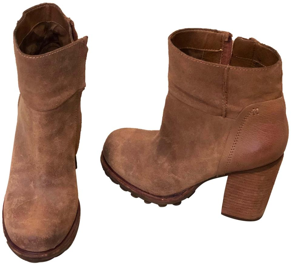 3b16bd206 Sam Edelman Brown Franklin Whiskey Leather Ankle Boots Booties Size ...
