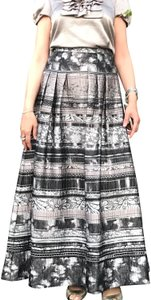 Kay Unger Maxi Skirt Smoke Multi
