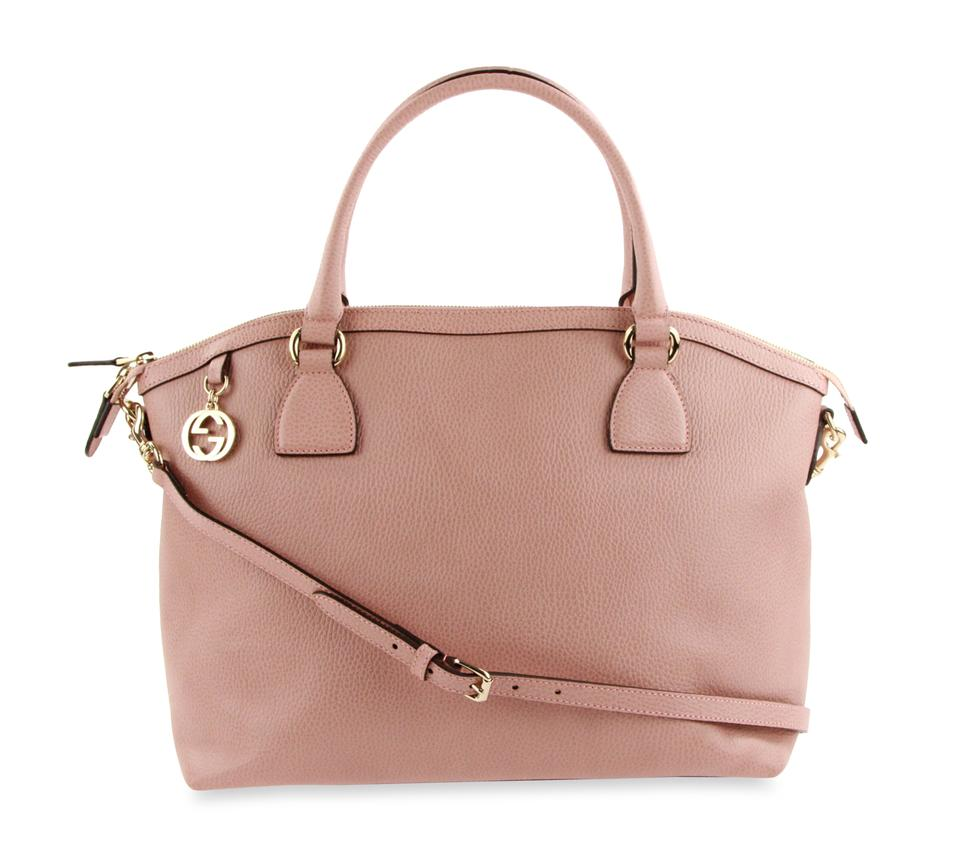 3c2f1b2ba Gucci Dollar Calf Charm Pink Leather Tote - Tradesy