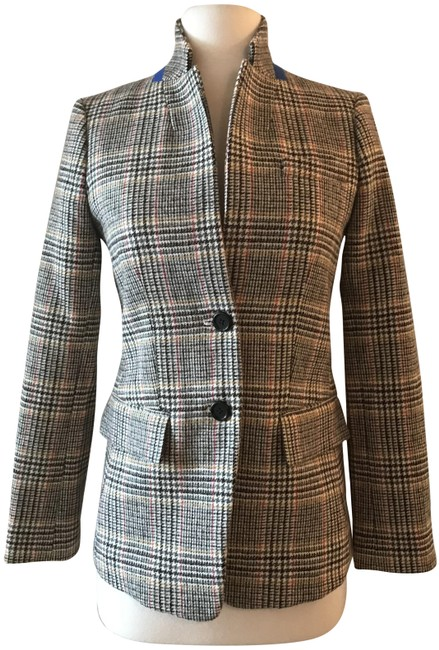 Item - Multicolor Regent In In Plaid with Velvet Tie G8712 Blazer Size 14 (L)