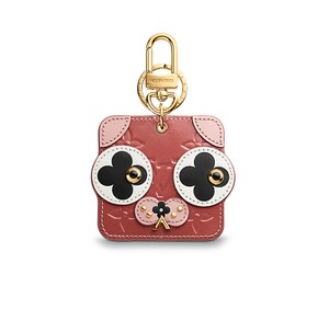 Louis Vuitton Puppy Animal Face Bag Charm and Key Holder