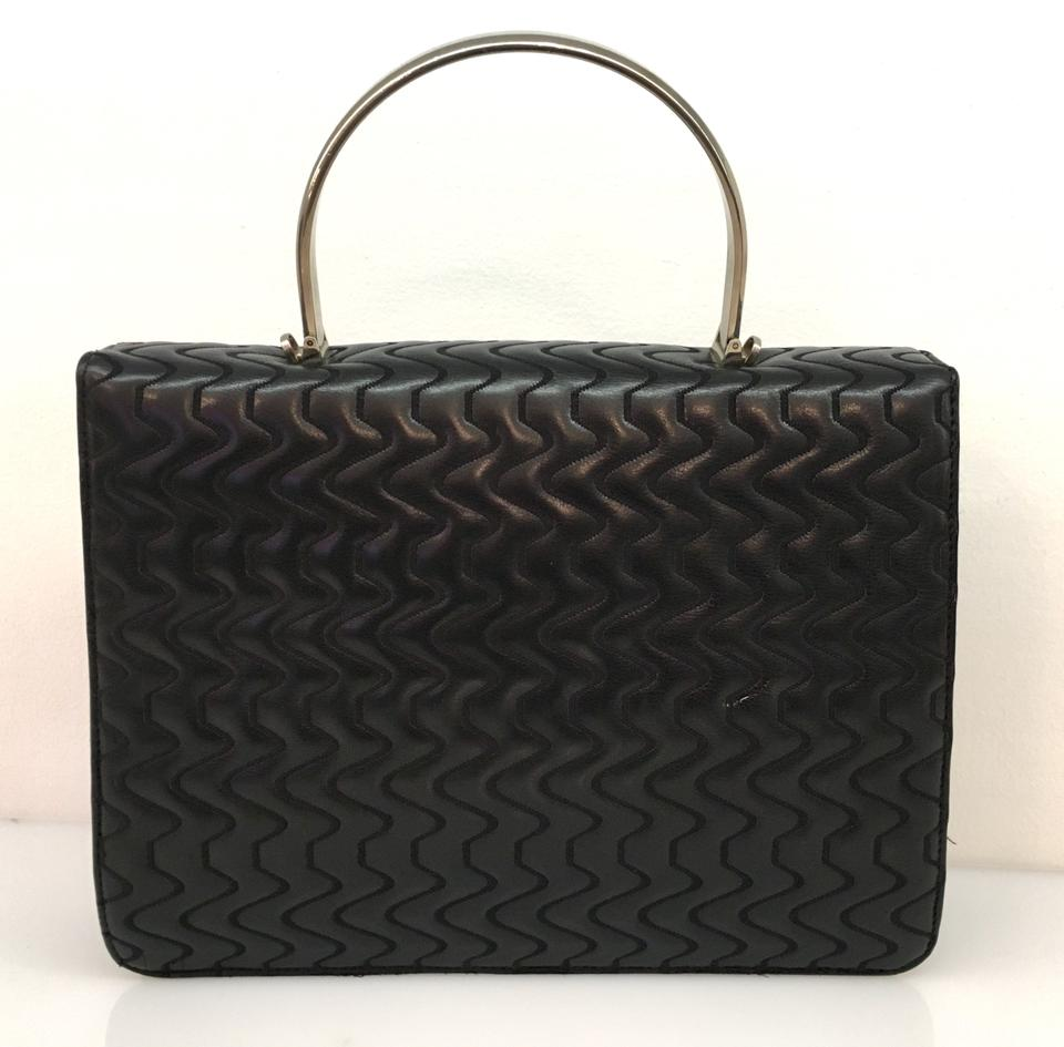 711f4cc75d85 Versace Vintage Medusa Quilted Top Handle Black Leather Tote - Tradesy