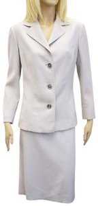 Dolce&Gabbana Dolce & Gabbana Beige Wool Skirt Suit Size 48/12 On Sale im