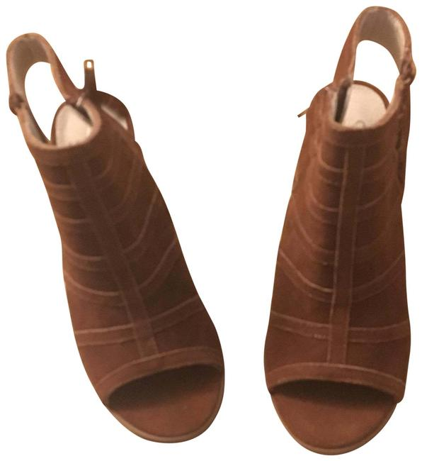 Item - Brown Leather Lace Up Heeled Sandals Size US 6.5 Regular (M, B)