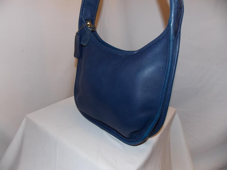 d38f9fcfa5 Coach  mini Ergo Zip   d7d-9020 ~brass Exc Plus Ocean Blue Leather Hobo Bag  - Tradesy