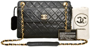 Chanel Quilted Lambskin Gold Chain Shoulder Bag